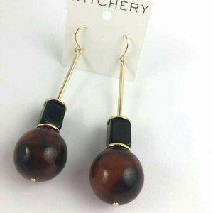 Witchery Jeanne Soft Gold Earrings 8cm Drop